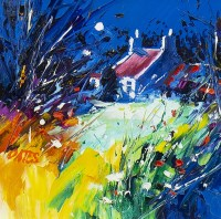 Lot 116 - MARTIN OATES, RED ROOF, WEST COAST oil on...