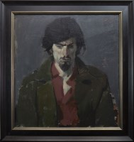 Lot 148-* JOHN BYRNE RSA, SELF PORTRAIT oil on canvas,...