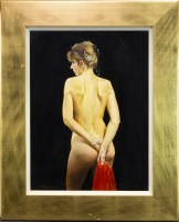 Lot 153-* JACK MORROCCO (SCOTTISH B.1953), NUDE WITH...