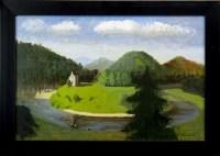 Lot 155 - * FRANCES WATT, NEIDPATH CASTLE oil on canvas,...