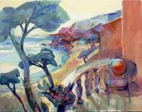 Lot 156 - MARCEL GAULT, BALCONY VIEW oil on canvas,...