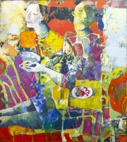 Lot 177 - ANDREI BLUDOV, REPAST oil on canvas, signed,...