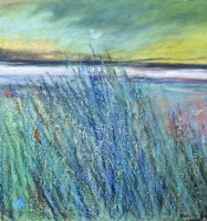 Lot 179 - MAY BYRNE, CATCHING THE WIND mixed media on...