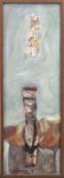 Lot 185 - * NAEL HANNA, FIGURATIVE STUDY oil on canvas,...