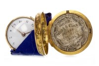 Lot 815-A RARE EARLY EIGHTEENTH CENTURY PAIR CASED WATCH