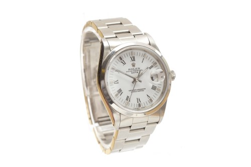 Lot 763-GENTLEMAN'S ROLEX OYSTER PERPETUAL DATE STAINLESS ...