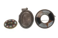 Lot 506-VICTORIAN LOCKET of oval form, with engraved...