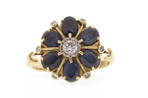 Lot 508-EARLY TO MID TWENTIETH CENTURY BLUE GEM AND...