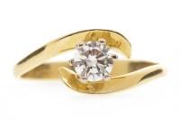 Lot 525 - DIAMOND SOLITAIRE RING the round brilliant cut...