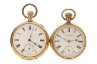 Lot 583 - WALTHAM POCKET WATCH the round white dial with...