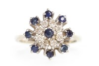 Lot 603 - MID TO LATE TWENTIETH CENTURY SAPPHIRE AND...