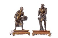 Lot 1030-PAIR OF LATE 19TH CENTURY JAPANESE BRONZE FIGURES ...