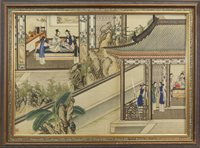 Lot 1033-A CHINESE PAINTING ON SILK