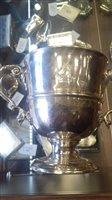 Lot 816-EARLY 19TH CENTURY IRISH SILVER TROPHY CUP maker...