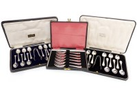 Lot 861-SET OF TWELVE GEORGE V SILVER TEASPOONS AND TONGS ...