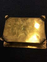 Lot 1606-ARTS & CRAFTS BRASS CASKET the hinged cover...