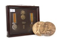 Lot 1647-TWO WWI MEDALS - 1914-1918 MEDAL and the...