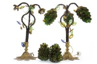 Lot 1655-PAIR OF EARLY 20TH CENTURY CONTINENTAL LAMPS with ...