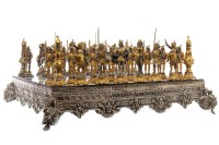 Lot 1659-GIUSEPPE VASARI FIGURAL CHESS SET crafted in...