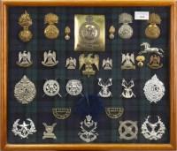 Lot 1668-CASE OF SCOTTISH REGIMANTAL CAP, BELT and other...