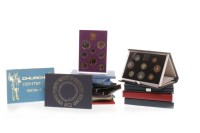 Lot 540-FOUR THE ROYAL MINT ANNUAL PROOF COINAGE SETS...