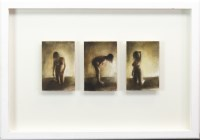 Lot 36-* MOLLY GARNIER, PERFORMANCE - TRIPTYCH oil on...