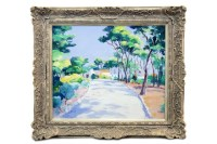 Lot 52-* JOHN ROSS, CAP D'ANTIBES oil on canvas, signed...