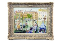 Lot 59-* JOHN ROSS, ON THE CANAL, VENICE oil on canvas,...