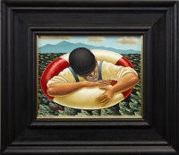 Lot 107-GRAHAM MCKEAN, STAYING AFLOAT oil on canvas,...