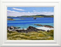 Lot 109-FRANK COLCLOUGH, VIEW FROM IONA SHORE oil on...