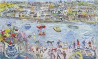 Lot 133-* LINDA WEIR, SPRING HOLIDAY FROM THE WHARF, ST...