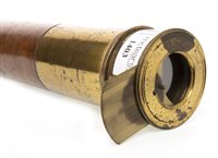 Lot 1403-VICTORIAN TWO-DRAW BRASS TELESCOPE by...