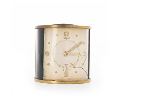 Lot 1407 - JAEGER LE COULTRE TRAVELLING ALARM CLOCK eight...