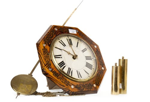 Lot 1410-VICTORIAN WAG AT THE WA' WALL CLOCK with...