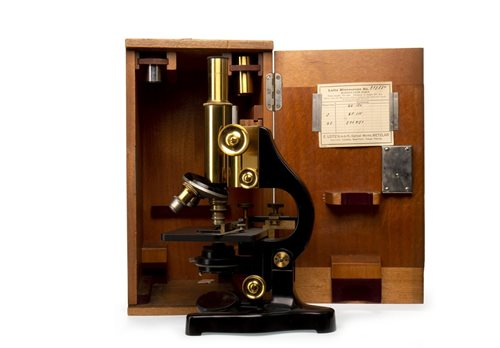 Lot 1413-EARLY 20TH CENTURY MONOCULAR MICROSCOPE BY...
