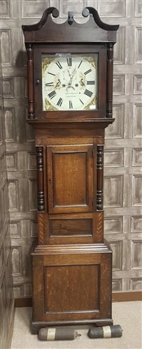 Lot 1426 - MID 19TH CENTURY WELSH LONGCASE CLOCK the hood...