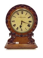 Lot 1428-VICTORIAN MAHOGANY WALL CLOCK retailed by...
