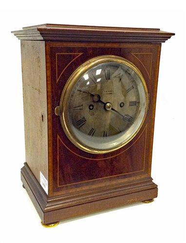 Lot 1430-EARLY 20TH CENTURY MAHOGANY MANTEL CLOCK...