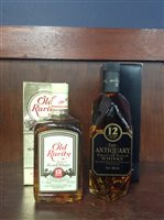 Lot 9-OLD RARITY 12 YEARS OLD & ANITQUARY AGED 12 YEARS