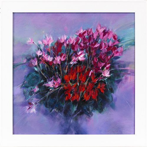 Lot 125-HARVEST TIME, CYCLAMEN,  BY SHELAGH CAMPBELL