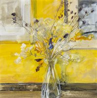 Lot 20-A STILL LIFE OF DRIED FLOWERS, BY DOUGLAS DAVIES