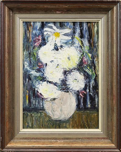 Lot 462-FLORAL STILL LIFE, BY LILY MACDOUGALL