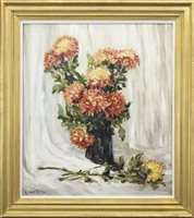 Lot 472-FLORAL STILL LIFE, BY ROBERT HOPE