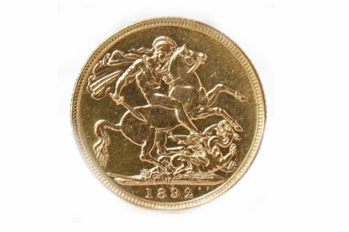 Lot 559-A GOLD SOVEREIGN, 1892