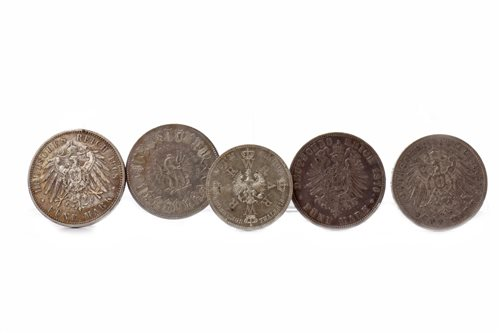 Lot 512-FIVE EUROPEAN COINS