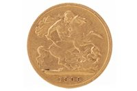 Lot 513-A GOLD HALF SOVEREIGN