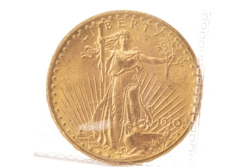 Lot 523-GOLD USA $20, 1910