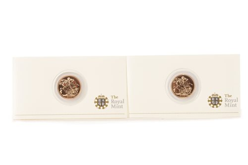 Lot 532-TWO GOLD PROOF SOVEREIGNS, 2009