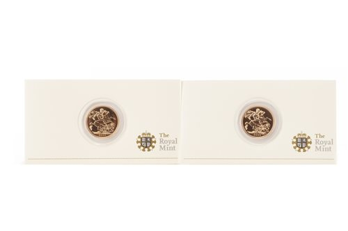 Lot 533-TWO GOLD PROOF SOVEREIGNS, 2009