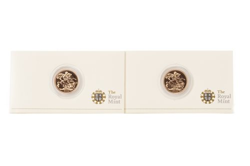Lot 534-TWO GOLD PROOF SOVEREIGNS, 2009